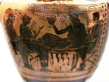 banquet scene ancient greece